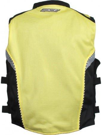 Joe Rocket Mens Military Spec Mesh Vest Yellow, Large//X-Large