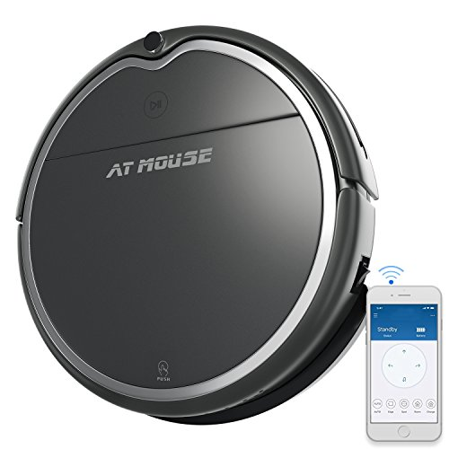 Robot Vacuum Cleaner with Strong Suction, Alexa Connectivity, App Controls, Self-Charging, Water Tank and Mop, Robotic Vacuum Good for Pet Hair, Hard Floor and Low Pile Carpet