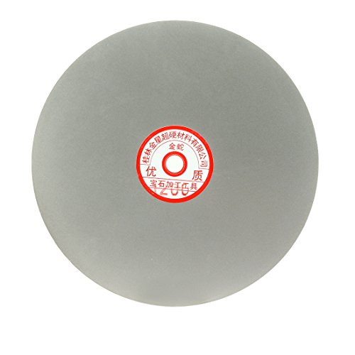uxcell 200mm 8-inch Grit 1200 Diamond Coated Flat Lap Disk Wheel Grinding Sanding Disc