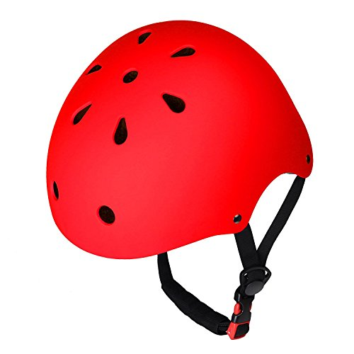 (Dostar KIDS Bike Helmet – Adjustable from Toddler to Youth Size, Ages 3-10 Durable Kid Bicycle Helmets Boys and Girls will LOVE - CSPC Certified for Safety and Comfort (Red))