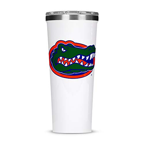 Corkcicle Tumbler - 24oz NCAA Triple Insulated Stainless Steel Travel Mug, University of Florida Gators, Big Logo
