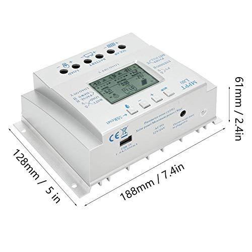 Solarladeregler MPPT, LCD-Display Solarladeregler 12V/24V PWM Photovoltaik Solarladeregler 80A