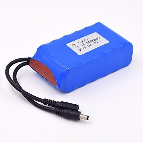 YDL 11.1V 8000mAh Recargable 12 x 18650 Batería Pack para Faro de ...