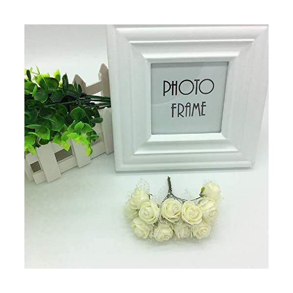 LAPOPNUT-144pcs-Mini-Artificial-Fake-Roses-Flowers-Bouquet-Realistic-PE-Foam-Flower-Petals-Stem-Chiffon-for-Wedding-Baby-Shower-Home-Party-Wreath-Gift-Box-Decoration-DIY-Crown-Beige
