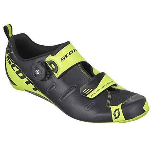 Scott Tri carbone noir/jaune Chaussures vélo triathlon 2016
