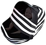Nursing Cover For Baby Breastfeeding   Infant Stroller, Carseat, Shopping Cart and High Chair Canopy Cover Up For Babies   Soft Stretchy Seat Car Covers For Boys and Girls   Multi Use Infinity Scarf
