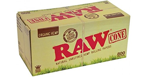Raw King Organic Pre-Rolled Cones 800ct w/ a TSC Sticker