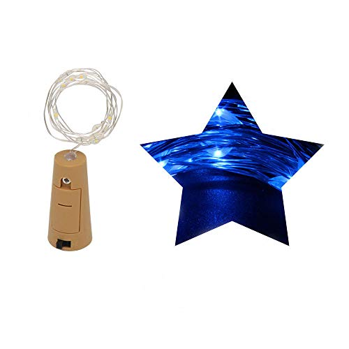 Gallity Romantic LED String,1M 10 LED Bottle Lights Cork Shape For Wine Bottle String Party Decor -