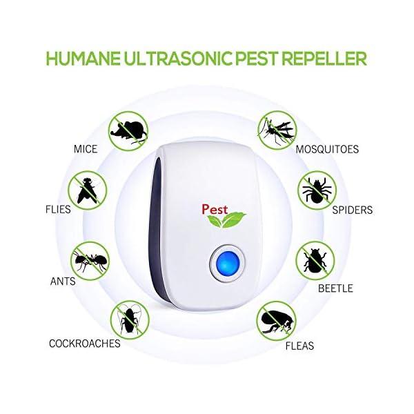 Antizanzare Ultrasuoni, 4 Pack Repellente ad Ultrasuoni Antizanzare Dispositivi Anti Zanzare Insetti Ragni Topi Mosche… 2 spesavip