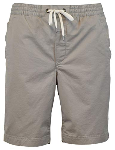 Ralph Lauren Flat Front Shorts - Polo Ralph Lauren Mens Classic Fit 9 Drawstring Shorts (M, Soft Grey)