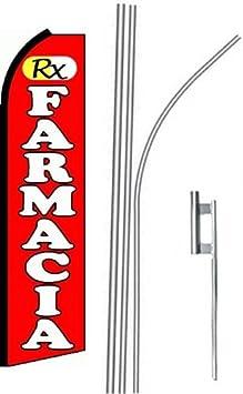 three FARMACIA 15 Swooper #4 Feather Flags KIT 3