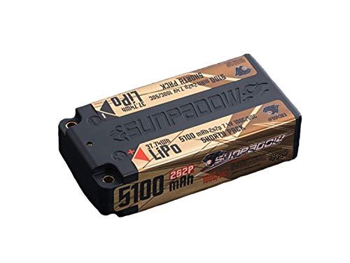 SUNPADOW 7.4V / 5100mAh / 100C リポバッテリー(ショート) B07RR25K42