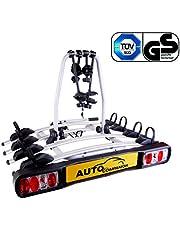 Auto Companion - Soporte para bola de remolque con plataforma trasera para 4 bicicletas