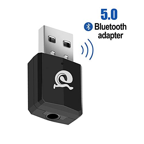 Jialebi Bluetooth 5.0 Transmitter and Receiver 2-in-1,Bluetooth Transmitter for TV,Wireless Bluetooth Adapter with aptX for CD-Like Voice Enjoyment,Bluetooth Audio Receiver for Car/Home Stereo System