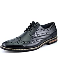 BrunoMarcModaItaly Prince Men's Classic Modern Oxford Wingtip Lace Dress Shoes