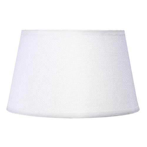 Cotton Lamp Shade PVC Linen Soft Light for Table Lamp Nightstand Lamp, Pendant Lighting Replacement ()