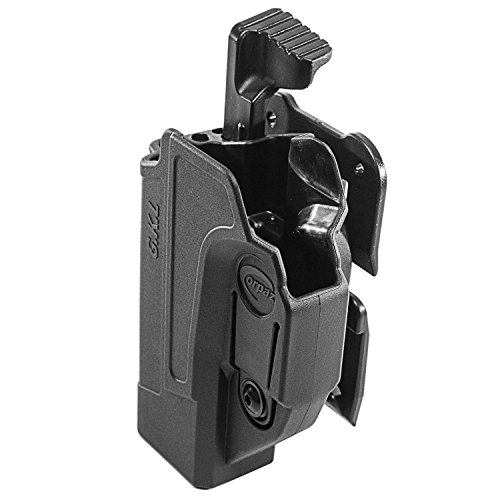 Orpaz Glock 19 Holster Fits Also Glock 17 Glock 22 Glock 23 Glock 26 Glock 27 Glock 34 & More (Left Hand, Level 2 Thumb Release MOLLE Holster)