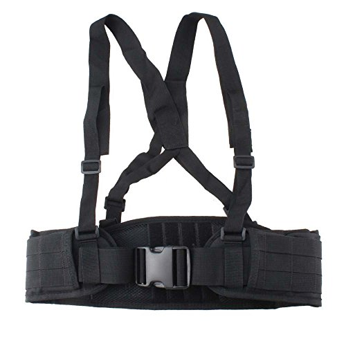 VC-Time Tactical Belt , Strap Tactical Waist Belt , Adjustable Security Tactical Belt For Hunting Equipment and Outdoor Activity (Black) (Tactical Harness Molle)
