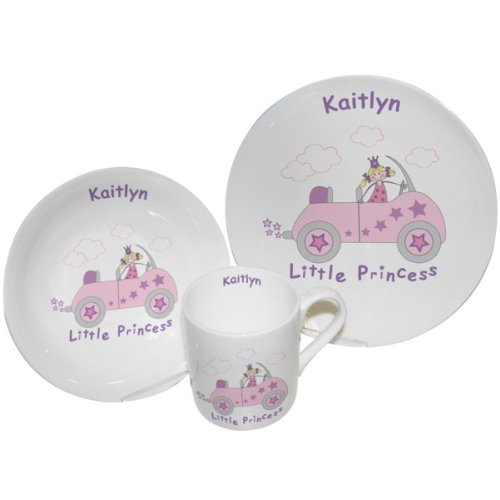 Little Princess in Car Breakfast Set by Pmc - Personalised Breakfast sets