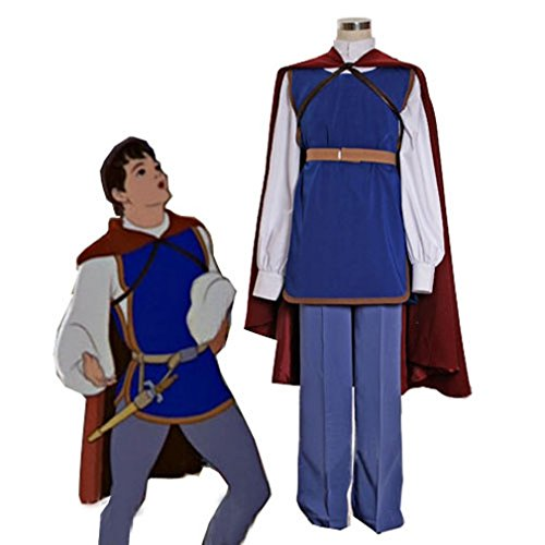 Cuterole Men Custom Snow White Prince Cosplay Costume Full (Snow White Outfits For Adults)