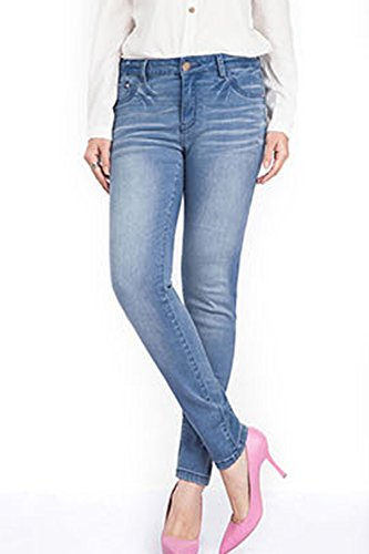 Blue Simgahuva Femmes Maigre Jegging Jeans Haute Juniors Taille rAr0qFn