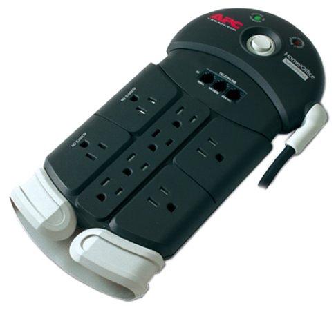 APC PH8T3 8-Outlet SurgeArrest with Tel2/Splitter Protection - Apc 8' Power Cords