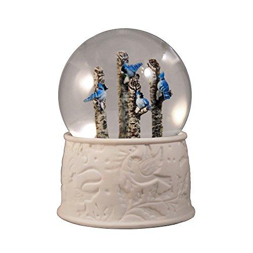 (4 Blue Jays Water Globe by The San Francisco Music Box Company)