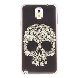 HC-Flowers Skull Pintura plástica cubierta trasera dura del patrón para Samsung Galaxy Nota 3 N9000