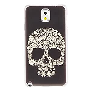 ZCL-Flowers Skull Pintura plástica cubierta trasera dura del patrón para Samsung Galaxy Nota 3 N9000