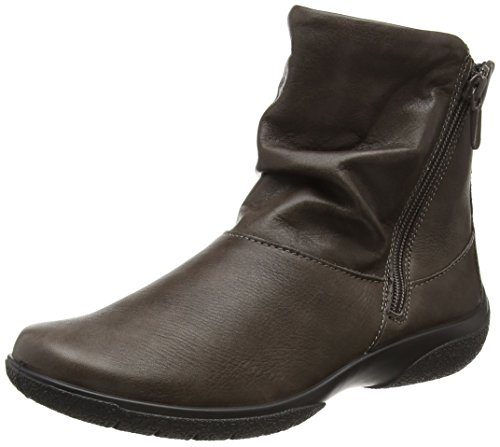 Hotter Damen Whisper Kurzschaft Stiefel, 37.5 EU Grey (Gunmetal)