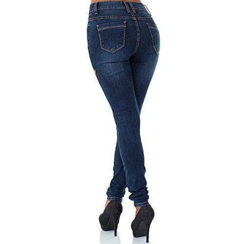 skinny malucas Vaqueros Azul para mujer vcPH471