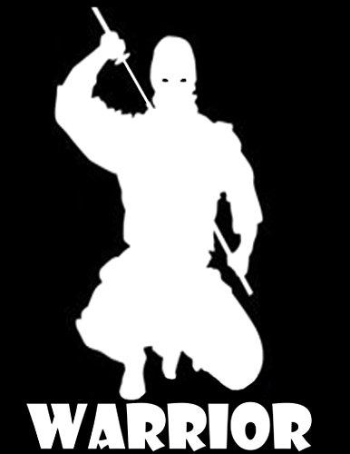 Ninja Warrior Decal Vinyl Sticker|Cars Trucks Walls Laptop|WHITE|5.5 In|URI108
