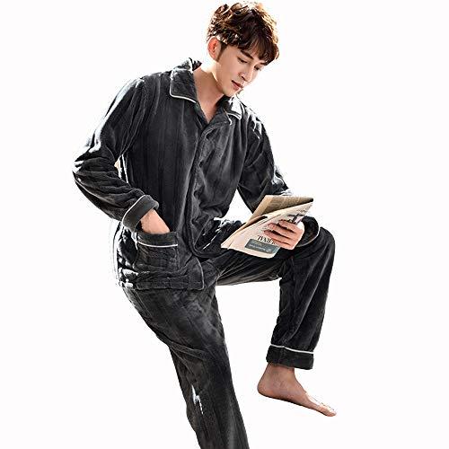 Hombre Ropa Gray male Amantes A Tamaño color Inicio Cálidas Casual Las Gwdj Empalme Simples Liruipengsy Mantener Esposas Piezas Dos Metro Pijamas Mujer De Suelto Femeninas male Pijamas Los Gray 70nqUg