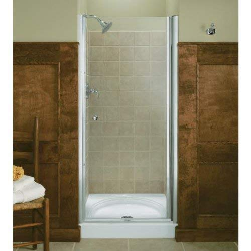 (KOHLER K-702402-G54-SH Fluence Frameless Pivot Shower Door, Bright Silver)