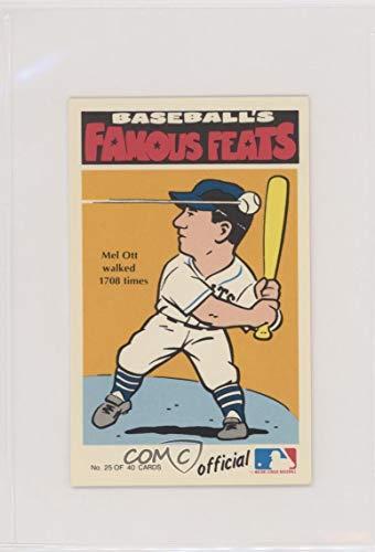 Amazoncom Mel Ott Baseball Card 1973 Fleer Real Cloth Baseball