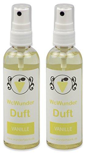 WcWunder Toilettenduft, Toilettenparfüm, Geruchsblocker 2x100ml PET-Flasche Vanille
