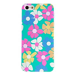 JOE Five Color Flower Pattern PC Hard Case with Transparent Frame for iPhone 5/5S