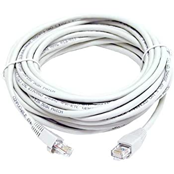CAT5e RJ45 PATCH ETHERNET NETWORK CABLE 50 FT WHITE