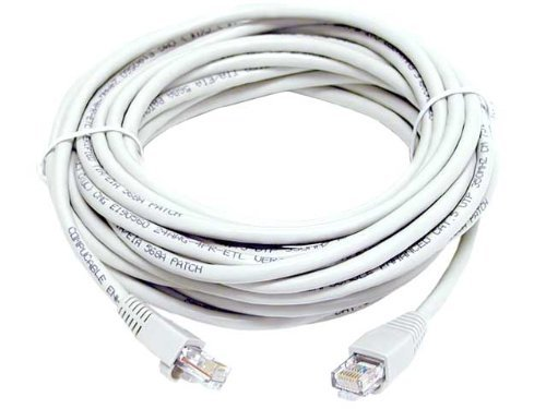 Amazon.com: CAT5e RJ45 PATCH ETHERNET NETWORK CABLE 50 FT WHITE: Home Audio & Theater