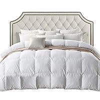 Ropa de cama egipcia LUXURIOSO 800 hilos HUNGARIAN GOOSE DOWN Inserto de edredón de edredón - King Size, 750 Fill Power, 50 oz Peso de relleno, 100% cubierta de algodón egipcio