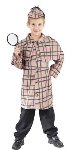Sherlock Holmes Childs Fancy Dress Costume - S 122cms