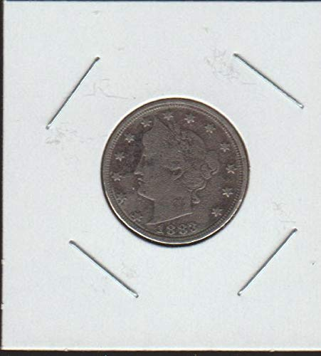 """1883 Liberty Head or""""V"""" (1883-1913) (With Cents) Nickel Very Good +"""