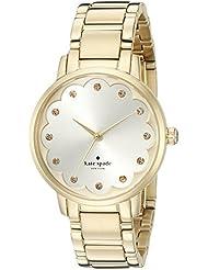 kate spade new york Womens KSW1047 Gramercy Analog Display Analog Quartz Gold Watch
