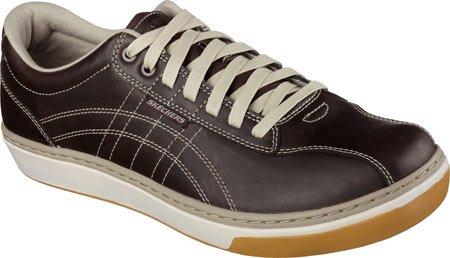 Skechers Hommes D�tendu Fit Palen Eleno Sneaker, Dark Brown