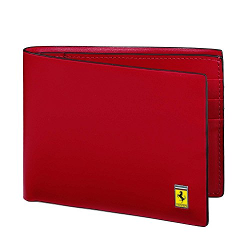 Ferrari Cavallino Rampante Wallet One size Dark Brown by Ferrari
