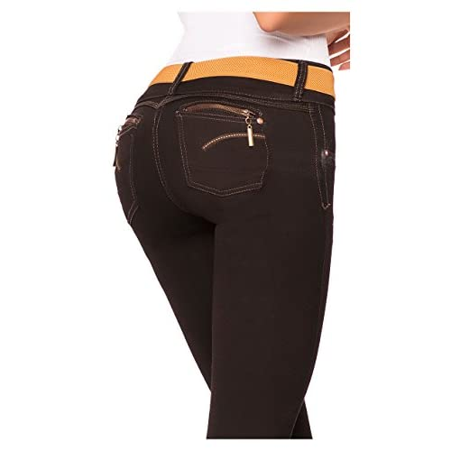6cd318a98213 Laty Rose 2003 Women s Colombian Butt Lifting Curvy Skinny Black Denim  Jeans 85%OFF