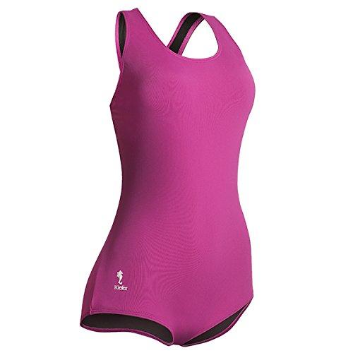 Kiefer 700008-Vio-20 Aqualast Fitness Lap Polyester/PBT Back Swim Suit, Size 20, Violet