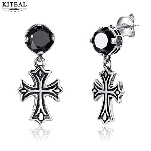 925 Sterling Silver Goddess Earring | Cross Earrings | Cross Cuff Jewelry (Goddess Cuff Ear)