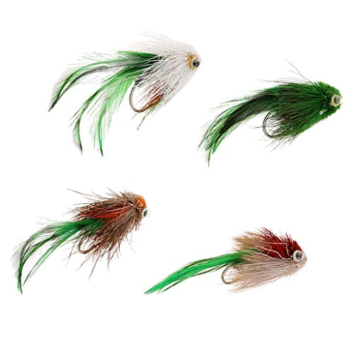 (Baoblaze Bass Bug Collection -7cm Bass Fly Fishing Flies - Poppers Divers Crawdad)