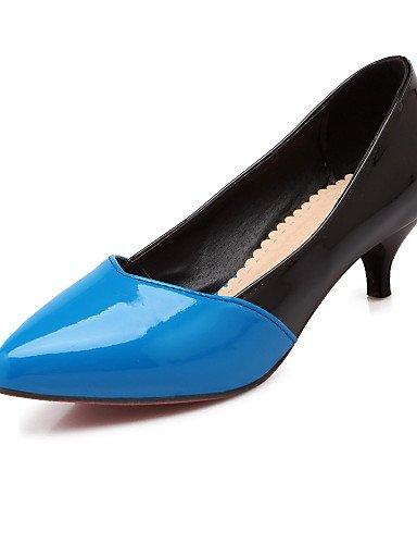 GGX/ Damenschuhe-High Heels-Büro / Lässig-Lackleder-Konischer Absatz-Absätze / Spitzschuh-Blau / Rot / Weiß white-us9.5-10 / eu41 / uk7.5-8 / cn42